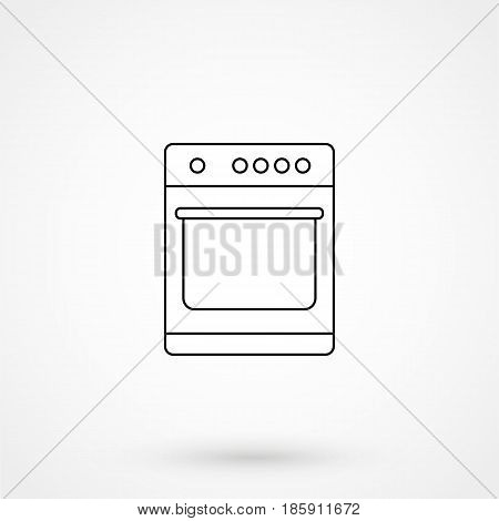 Stove Oven Icon Flat Design Isolated On Background