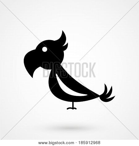 Parrot Vector Flat Design Isolated On Background