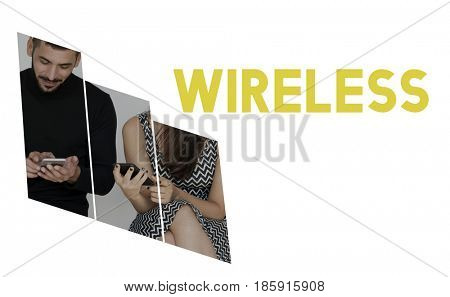 Wireless connection technology internet signal