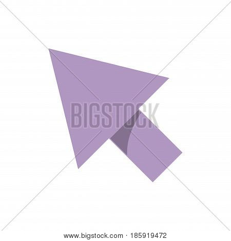 white background with purple arrowhead vector illustration
