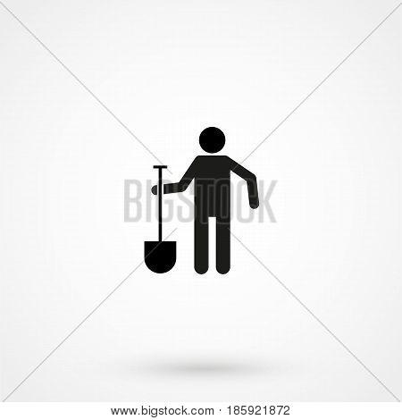 Digging Man Icon Vector.