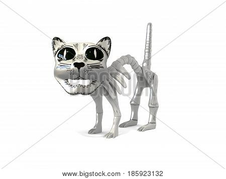 Funny skeleton cat souvenir from mexico 3d render