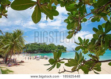 PHUKET, THAILAND - APRIL 11, 2017: Kata Beach Sunny Day