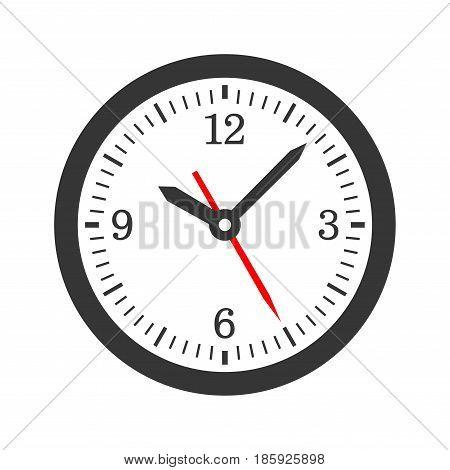 Mechanical Circle Clock Dial Set. Vector illustration
