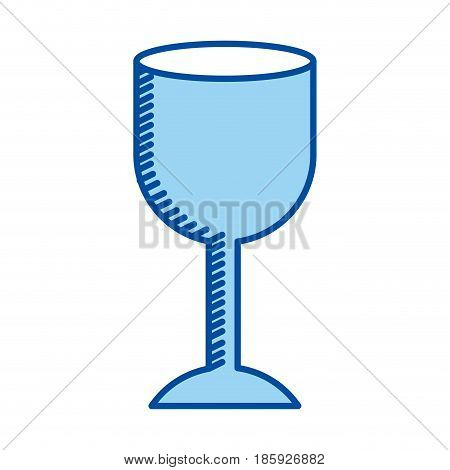 blue contour of fragile packaging symbol glass vector illustration