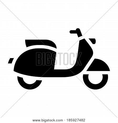 moped, icon isolated on white background flat style.