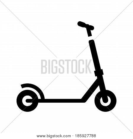 micro scooter, icon isolated on white background flat style.