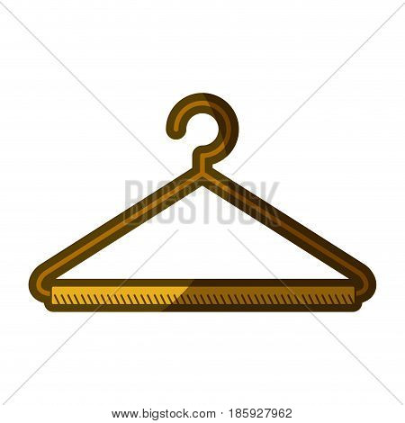 yellow aged silhouette of hook closet shirt vector illustration