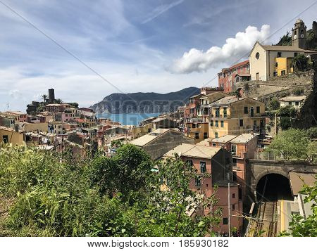 A beautiful fishing village in Cinque Terre, Italy.