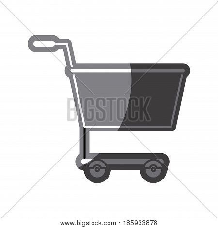 grayscale silhouette of shopping cart vector illustration