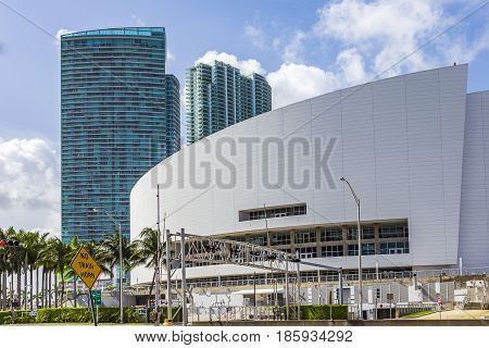 American Airlines Arena. Home Of The Miami Heat Basketball Team.