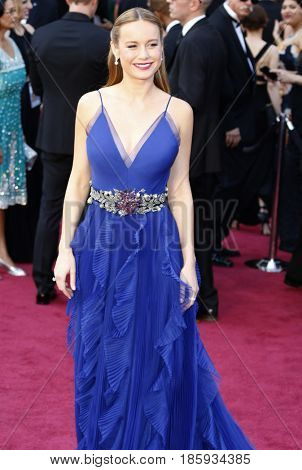 Brie Larson at the 88th Annual Academy Awards held at the Hollywood & Highland Center in Hollywood, USA on February 28, 2016.