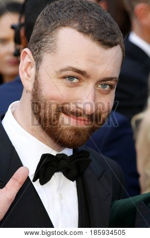 Sam Smith at the 88th Annual Academy Awards held at the Hollywood & Highland Center in Hollywood, USA on February 28, 2016.