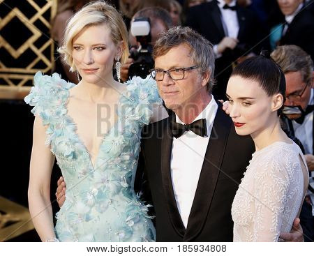 Cate Blanchett and Rooney Mara at the 88th Annual Academy Awards held at the Hollywood & Highland Center in Hollywood, USA on February 28, 2016.
