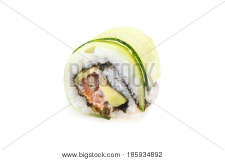 Habomai-roll With Tuna, Shrimp, Avocado, Ginger Sauce, Cucumber, Nori