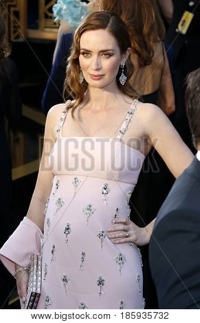 Emily Blunt at the 88th Annual Academy Awards held at the Hollywood & Highland Center in Hollywood, USA on February 28, 2016.