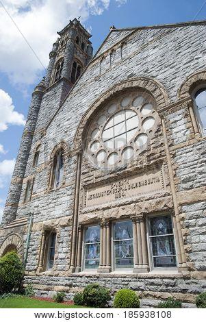 The historic Epworth Methodist Episcopal Church in Norfolk city (West Virginia).