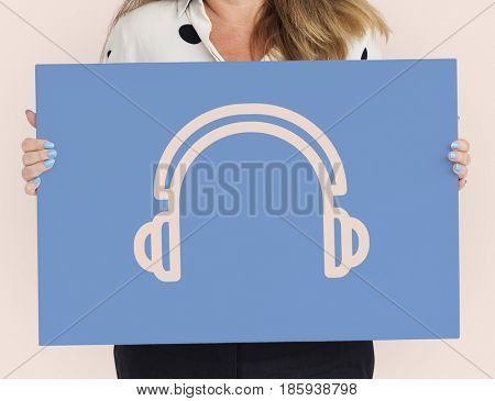Multimedia Entertainment Headset Stereo Icon
