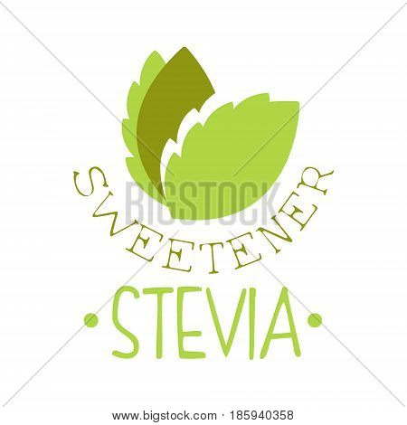 Sweetener stevia logo symbol. Healthy product label vector Illustration for business sign, advertising, brand or company identity
