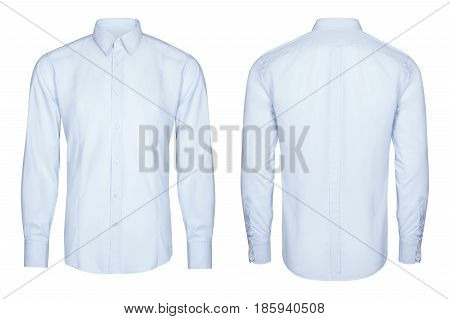 blue classic and business shirt, isolated white background