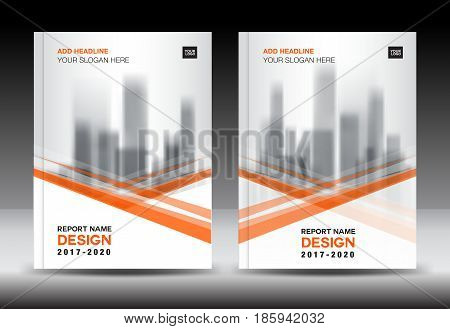 Orange cover design Annual report template business brochure flyer company profile in a4