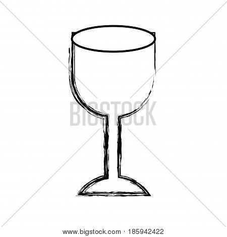 monochrome blurred silhouette of fragile packaging symbol glass vector illustration