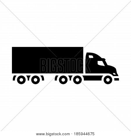 lorry, icon isolated on white background flat style.