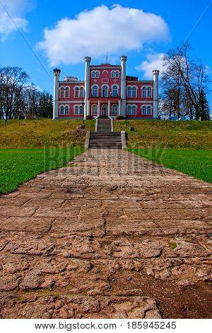 Hill near the lake rises Birini Castle