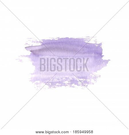 Abstract watercolor hand painted spot. Watercolor design element. Watercolor  purple background.