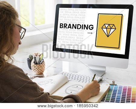 Illustration of product branding marketing plan