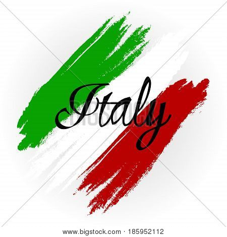 Vector illustration for the Day of Proclamation of the Republic of Italy. Abstract Flag of Italy on a white background.