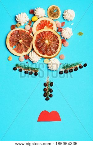 Oranges And Sweets With Coffee Beans