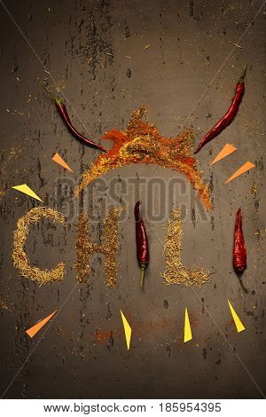 Chili Peppers And Spices