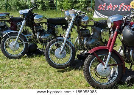 PAAREN IM GLIEN GERMANY - MAY 19: Motorcycles Jawa