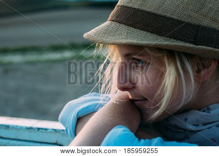 daydreaming woman