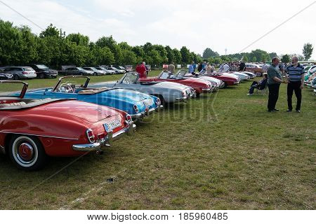 Paaren Im Glien, Germany - May 19: Several Cars Mercedes-benz 190Sl,