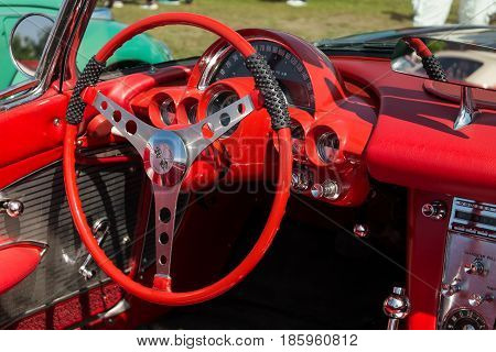 Paaren Im Glien, Germany - May 19: Cab The Car Chevrolet Corvette (first Generation-c1),