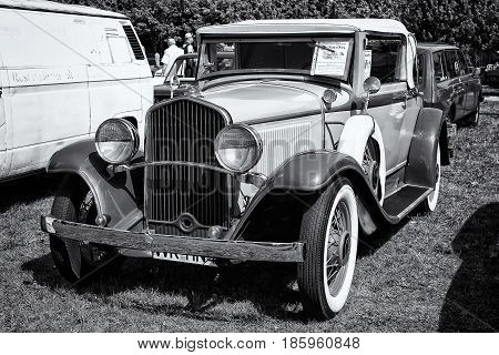 Paaren Im Glien, Germany - May 19: Car De Soto Six Convertible Coupe, (black And White),