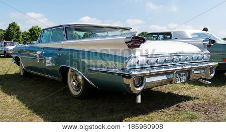 Paaren Im Glien, Germany - May 19: Full-size Car Oldsmobile 98 (fifth Generation), Rear View,