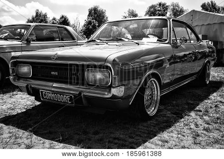 Paaren Im Glien, Germany - May 19: Executive Car Opel Commodore Gs/e Coupe (black And White),