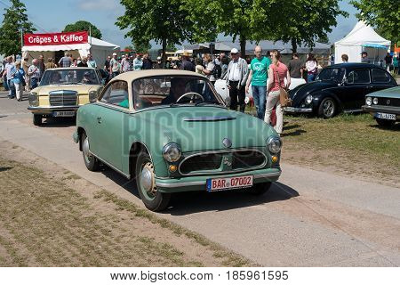 Paaren Im Glien, Germany - May 19: The East German Car Awz P70 Zwickau,