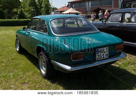 Paaren Im Glien, Germany - May 19: Italian Car Alfa Romeo Gt 1300 Junior, Rear View,