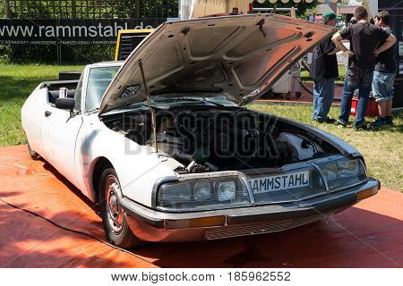 Paaren Im Glien, Germany - May 19: French High-performance Coupe Citroen Sm,