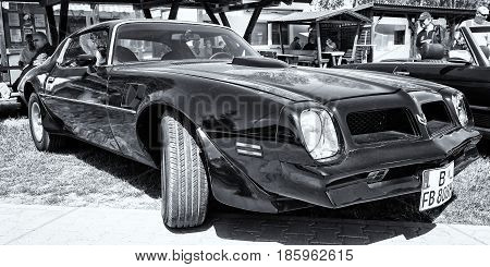 Paaren Im Glien, Germany - May 19: Car Pontiac Firebird Trans-am, (second Generation), Black And Whi