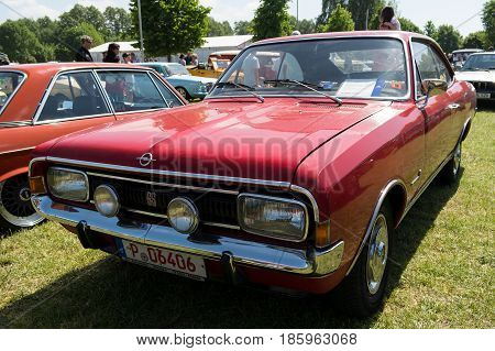 Paaren Im Glien, Germany - May 19: Executive Car Opel Commodore Gs Coupe,