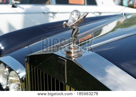 Paaren Im Glien, Germany - May 19: The Emblem Of Rolls-royce, Spirit Of Ecstasy,