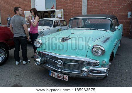 Paaren Im Glien, Germany - May 19: Full-size Car Buick Special Riviera Sedan, 1956,