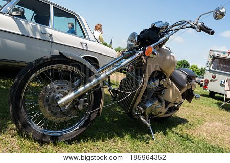 PAAREN IM GLIEN GERMANY - MAY 19: Motorcycle Honda VT600 PC21 Chopper Bike (1996)