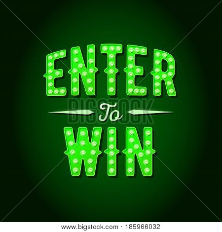 Enter to Win Vector Sign EPS 10