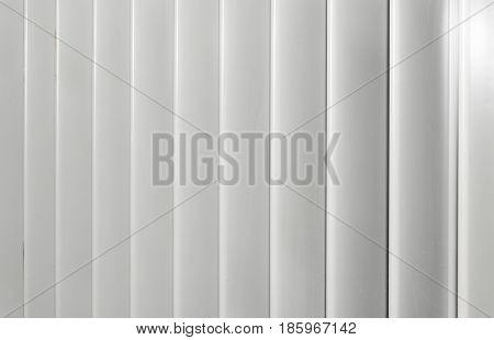 white aluminum Venetian blinds at the industrial enterprise